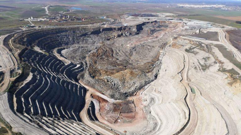 Deslizamiento margas azules en mina Cobre Las Cruces